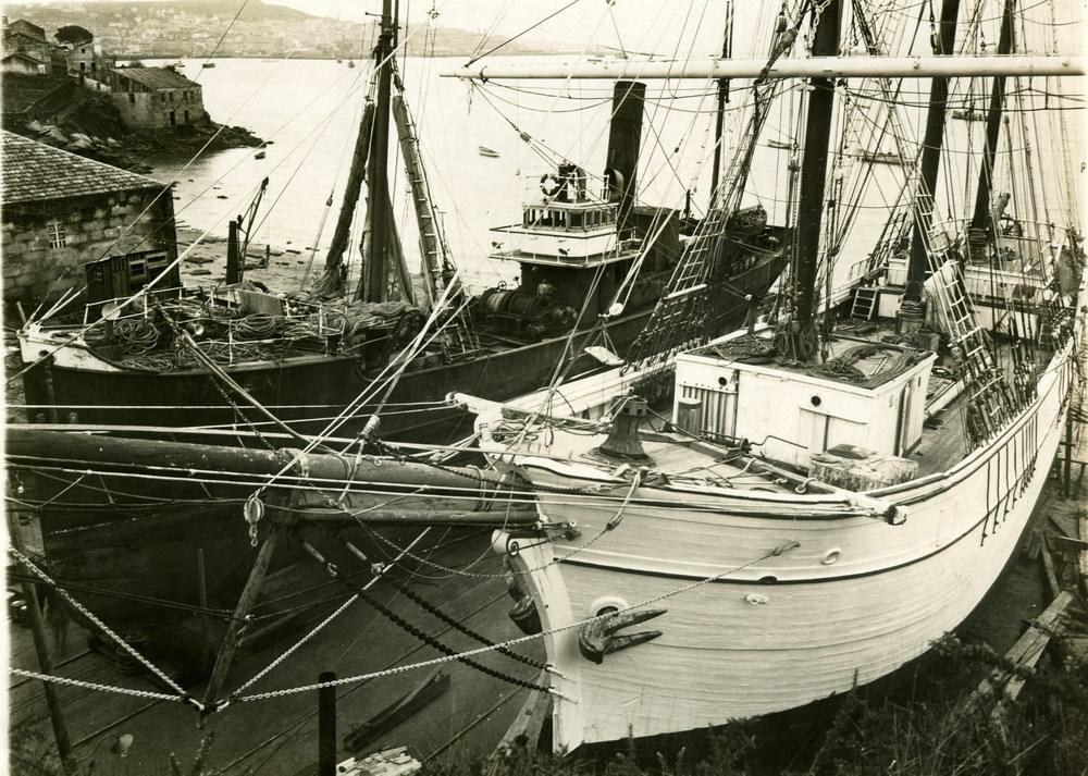 Construcción de velero. 1947