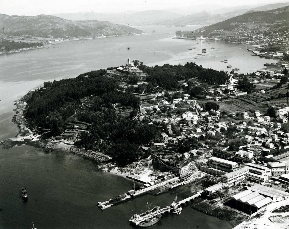 Vista aérea de La Guía y F. vulcano
