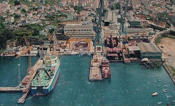 Vista aérea del astillero