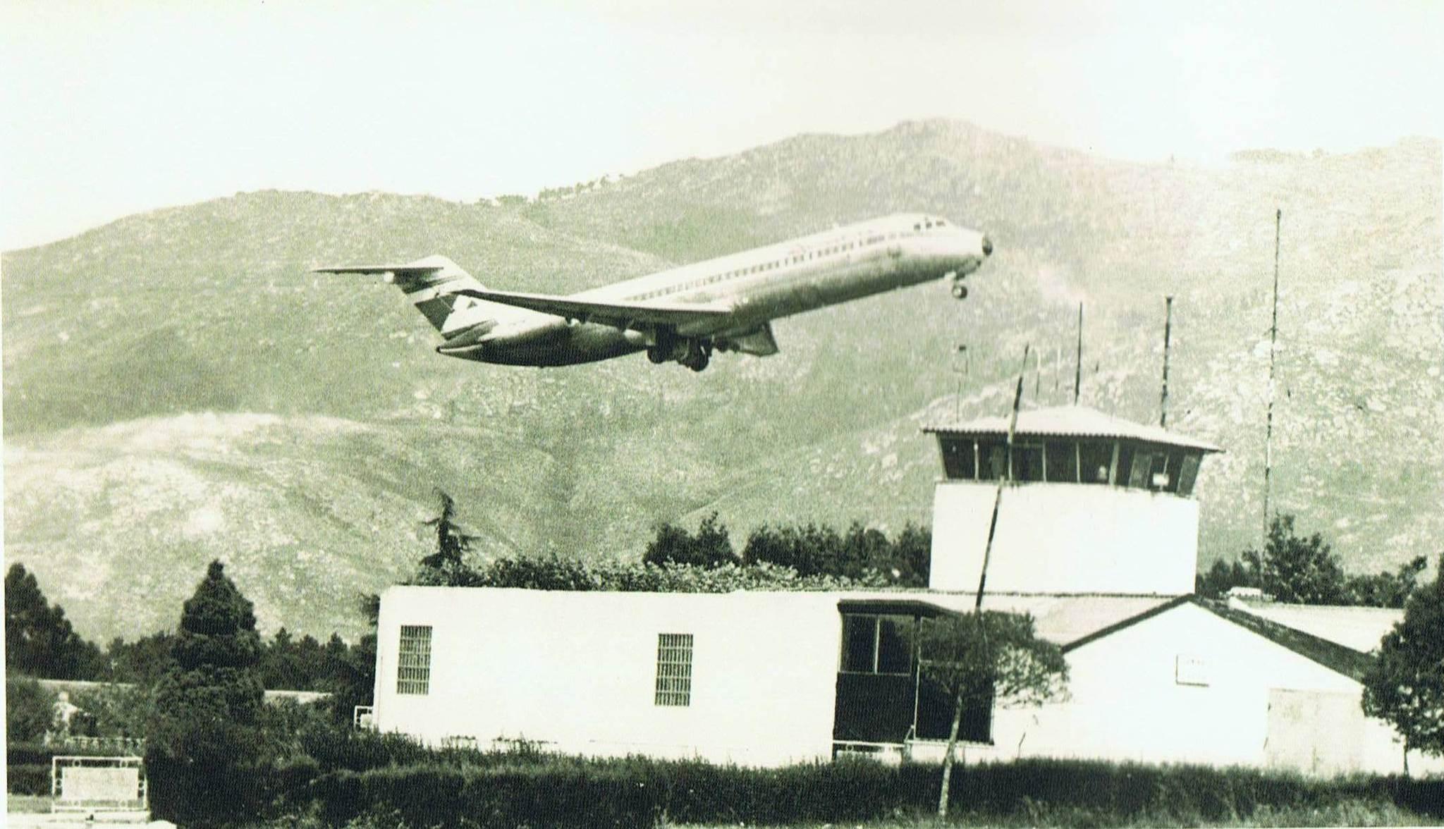 aerop.DC 9 sobre Peinador