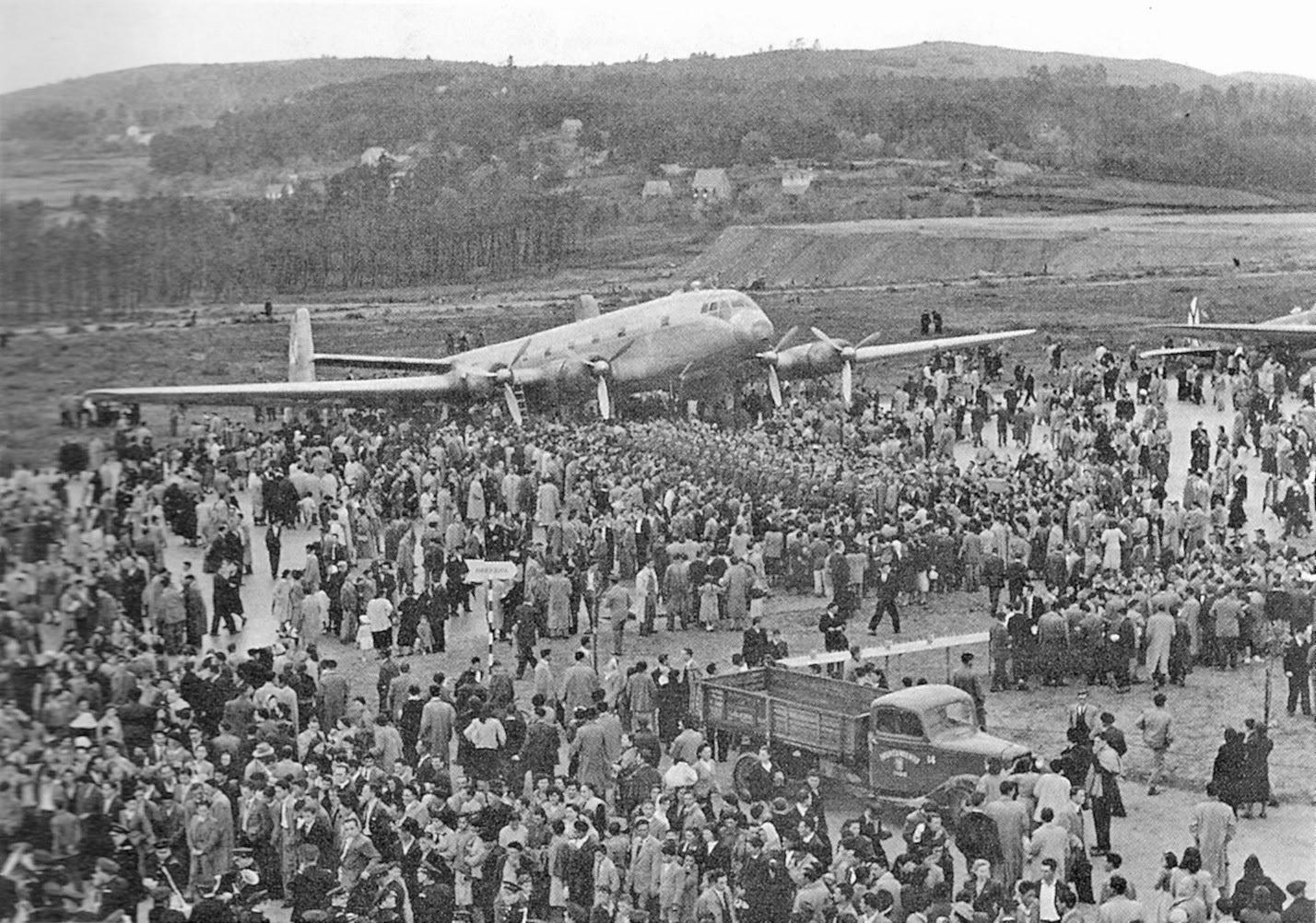 aerop. Inauguración del aeropuerto. 1954