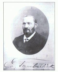 3 Foto del tenor italiano Enrico Tamberlick dedicada en Vigo a Enrique Pérez. 1882